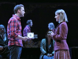 Stuart Ward (left) as Guy and Dani de Waal (right) as Girl in Once, now performing at The Kennedy Center