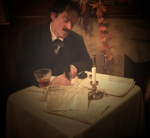 Jose de la Mar as Edgar Allan Poe in Poe's Last Stanza at Do or Die Productions