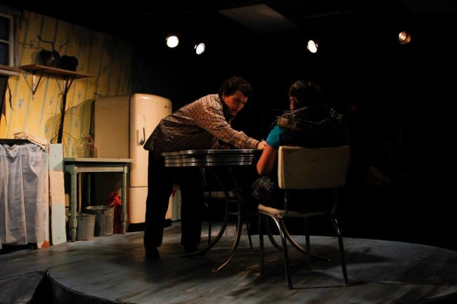 Allison Turkel (left) as Eliza and Becca Korn (right) as Jamie in Raw at Venus Theatre