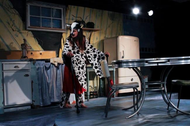 Katie Jeffries as the caroline Wilimena in Raw at Venus Theatre