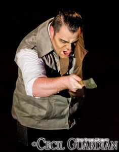 Ryan DeVoe as Sweeney Todd at Milburn Stone Theatre