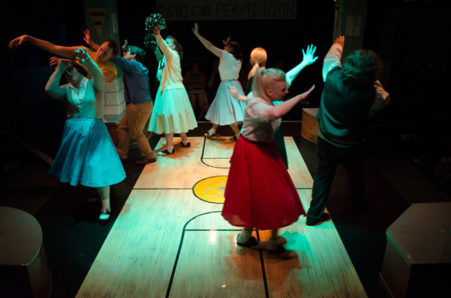 The company of Zombie Prom at The Audrey Herman Spotlighters Theatre