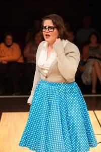 Parker Bailey Steven as nerdy Ginger in Zombie Prom at Spotlighters Theatre