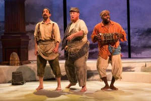 (L to R) U. Jonathan Toppo, MIchael J. Hume, and Cedric Lamar in Pericles at Folger Theatre