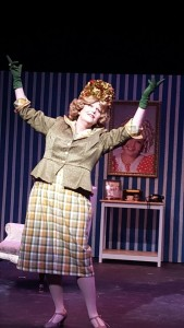 Shannon Wollman as Lita Encore in Ruthless! The Musical at Dundalk Community Theatre