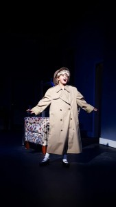 Kaitlyn Wise as Tina Denmark in Ruthless! The Musical at Dundalk Community Theatre