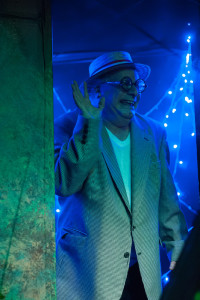 Glen Charlow as R.R. Snavely in A Tuna Christmas at Spotlighters Theatre