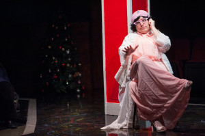 Matt Wetzel as Vera Carp in A Tuna Christmas at Spotlighters Theatre