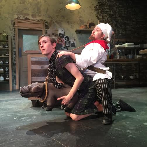 Chaz Atkinson (left) as Michael and Brielle Levenberg (right) as Jean-Jacques in Voracious at UMBC