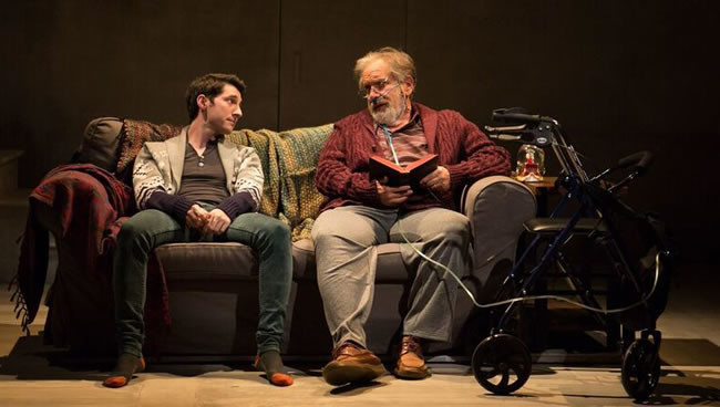 (L to R) Tony Strowd Hamilton and Michael Willis in Sons of the Prophet at Theater J