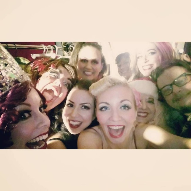 """Backstage Selfie with all of the """"Calendar Girls"""" at Yellow Sign Theatre"""