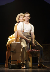 "Carmen Cusack and Paul Alexander Nolan in ""Bright Star"" at the Kennedy Center."