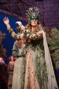 Gwen Grastorf as The Woodland Queen in The Christmas Revels 2015