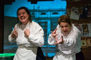 Laura K. Stark (left) and Jeanine Evans (right) as 'City' in The Gifts of the Magi