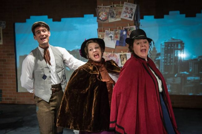 Daniel Valentin-Morales (left) as Willy Porter, Jeanine Evans (center) as City, and Laura K. Stark (right) as City in The Gifts of the Magi