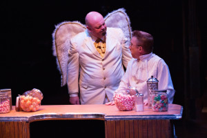 David Bosley-Reynolds (left) as Joseph and David James (right) as Clarence Odbody, AS2 in It's a Wonderful Life: The Musical