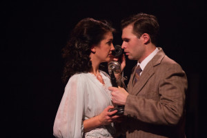 Katie Keyser (left) as Mary and Matthew Schleigh (right) as George Bailey in It's a Wonderful Life: The Musical