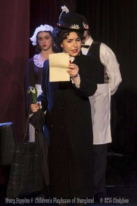 Ilyssa Rubin as Mary Poppins in Mary Poppins at Children's Playhouse of Maryland