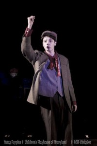 Charlie Holt as Bert in Mary Poppins at Children's Playhouse of Maryland