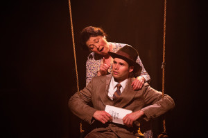 Lynne Sigler (left) as Ma Bailey and Matthew Schleigh (right) as George Bailey in It's a Wonderful Life: The Musical