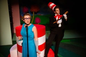 Jaclyn Young and Ben Cherington in Seussical at NextStop Theatre
