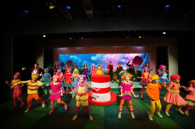 The cast of Seussical at NextStop Theatre