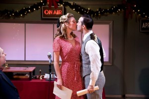 Sally Boyett (left) and Nick DePinto (right) in Annapolis Shakespeare Company's 'IT'S A WONDERFUL LIFE: A LIVE RADIO PLAY