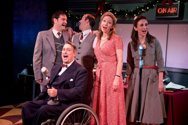 The cast of It's a Wonderful Life: A Live Radio Play at Annapolis Shakespeare Company