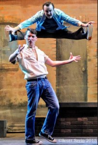 Alex VanderLek (below) as Action and Joseph Murphy (above) as Riff in West Side Story
