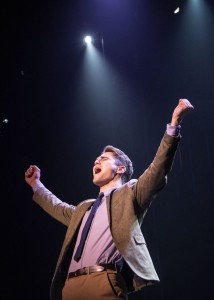 Austin Colby (Tony) in West Side Story at Signature Theatre.