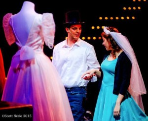 Art Bookout (left) as Tony and Darby McLaughlin (right) as Maria in West Side Story