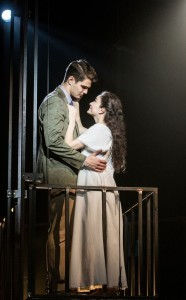 Austin Colby (Tony) and MaryJoanna Grisso (Maria) in West Side Story at Signature Theatre