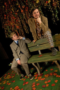 Tim Neil (left) as Peter and Charles Gearhart (right) as Jerry in Edward Albee's The Zoo Story