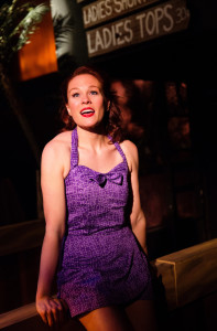 Teresa Dansky as Ensign Nellie Forbush in South Pacific at Toby's Dinner Theatre