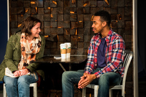 Megan Anderson (left) and Keith L. Royal Smith (right) in Under the Skin at Everyman Theatre