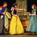 Josh Huff-Edsall (left) as Spike, Jo Sullivan (center) as Masha and Nicole Musho (right) as Nina in Vanya and Sonia and Masha and Spike at Prince George's Little Theatre