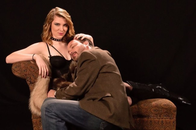 Natalie Nankervis (left) and Jeff Mocho (right) in Venus in Fur at Colonial Players