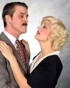 Charles Lidard (left) as Richard Hannay and Tatiana Dalton (right) as Pamela in The 39 Steps