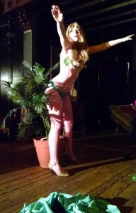 Fanny Rouge getting her garden on at Love Stinks!