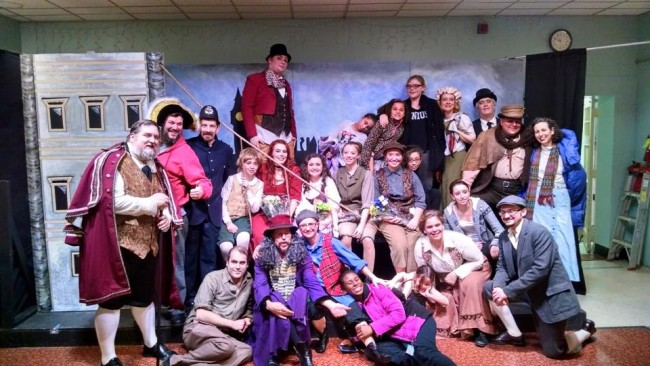 A portion of Third Wall Productions' cast of Oliver!