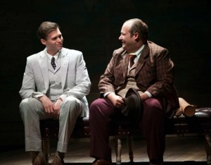 Matthew Schleigh (left) as Hollis Bessemer and Josh Lamon (right) as Addison Mizner in Road Show