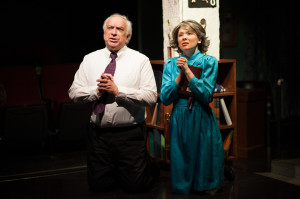 John Sadowsky (left) as Preacher Reily and Christina Holmes (right) as Mother in Southern Baptist Sissies