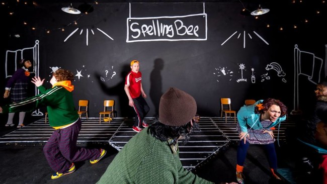 The ensemble of The 25th Annual Putnam County Spelling Bee at Stillpointe Theatre