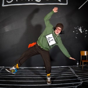 Ryan Haase as William Barfee in The 25th Annual Putnam County Spelling Bee at Stillpointe Theatre