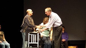 Bob Harbaum (left) and Stuart Rick (right) in The Laramie Project at Kensingto Arts Theatre