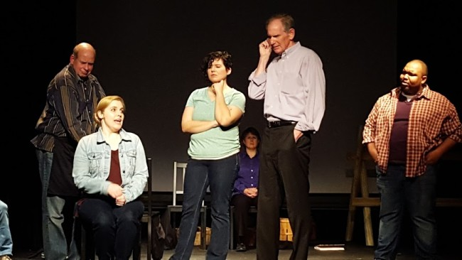 The Ensemble of The Laramie Project at Kensington Arts Theatre