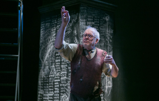 Leo Erickson as Math Teacher in Falling Out of Time at Theater J