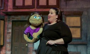 Amy Haynes as Kate Monster in Avenue Q at Phoenix Festival Theater Company