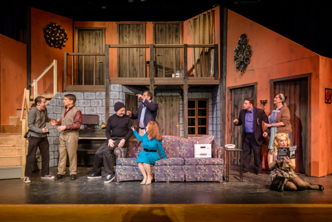 The Cast of Noises Off at Silhouette Stages