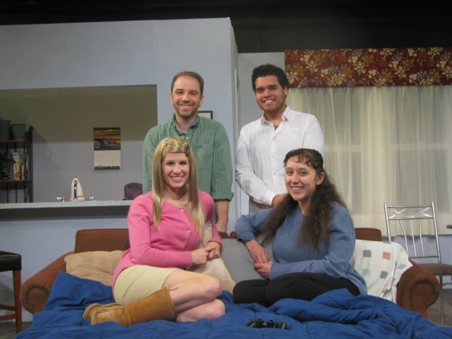 The cast of Bad Jews at Greenbelt Arts Center
